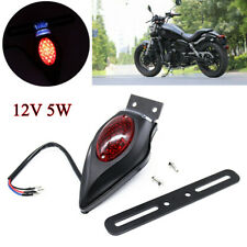 12V Retro Motorcycle Taillights LED Brake Tail License Plate Integrated Light