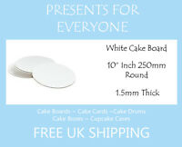 "5 x 10"" Round White Cake Board FREE SHIPPING"