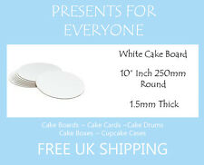 "5 x 10"" Round White Cake Board FREE SHIPPING"