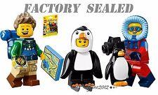 LEGO 71013 Minifigures Series 16 Hiker Penguin Boy Wildlife Photographer LOT bag