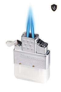 KGM Vector Thunderbird Butane Flip Top DOUBLE FLAME TORCH Lighter Insert