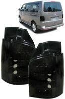 Klarglas LED Rückleuchten schwarz für VW Bus T5