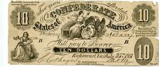 1861   $10  Counterfeit Confederate Currency   CT-10