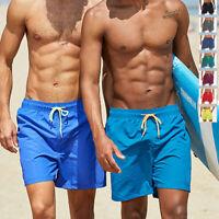 Mens Swimming Board Shorts Boy Casual Quick Dry Pool Beach Summer Swim Trunks US