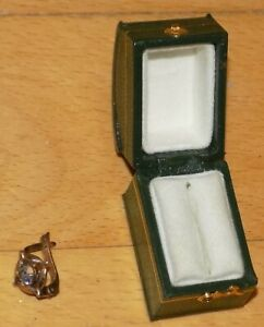 SILVER-925 GOLD PLATED ONE EARRING + Original Box