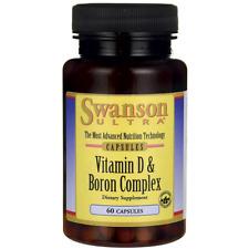 Swanson Ultra Vitamin D & Boron Complex 60 Capsules