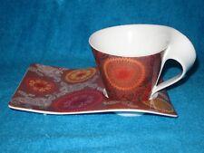 VILLEROY & BOCH NEW WAVE CAFFE BATIK LARGE MUG AND PARTY PLATE