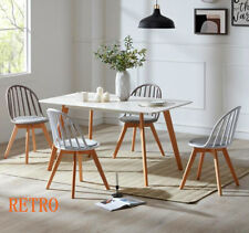 Dining table and 6 chairs retro tulip Eiffel---
