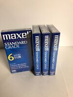 Maxell  Standard Grade Video Cassette  T-120 4 Brand New
