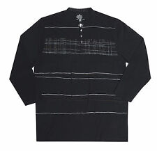 Crew Neck Long Sleeve Striped Casual Shirts & Tops for Men