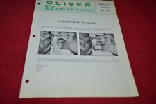 Oliver Tractor Right Hand Step For 1800 Tractor Sales Notes Brochure PBPA