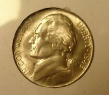 A BU 1945 S Jefferson Nickel -  OBW roll.  Estate   35% Silver  Free ship