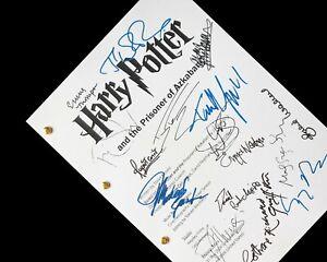 Harry Potter & the Prisoner of Azkaban Script Film Signatures Autograph Reprint