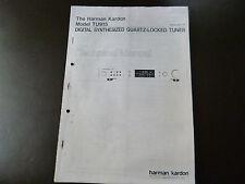 Service Manual Harman Kardon  Linear Phase Stereo FM/AM Tuner TU 910