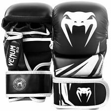 Venum MMA Challenger 7oz Sparring Gloves Black / White Martial Arts Training