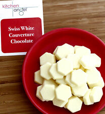 Swiss White Couverture Chocolate Discs (200g)