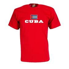 T-Shirt KUBA (Cuba), Flag Shirt Herren Fanshirt mit Flagge bis 5XL (WMS02-36a)