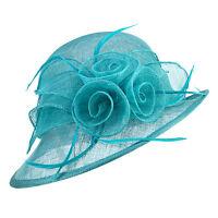 New Womens Kentucky Derby Wedding Sinamay Ascot Church cloche Dress Hat T153