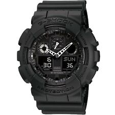 Casio G-Shock GA-100-1A1 Analog-Digital Blackout Military Men's Watch