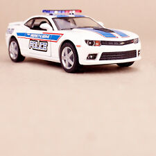 White 2014 Chevrolet Camaro Ploice Squad Collectible Model Car 1:38 Scale