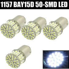 White 4x BAY15D 1157 50 SMD Car Tail Stop Brake Light Super Bright LED Bulb 12V