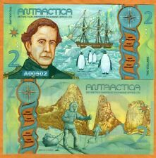 Antarctica, $2, 2020, Clear Window Polymer, New Design, UNC > Penguins, Wilkes