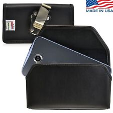 Turtleback Google Nexus 6 Leather Pouch Holster Case Rotating Metal Belt Clip