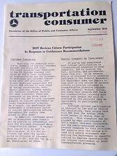 Transportation Consumer Magazine DOT Reviews September 1979 FAL 050717nonrh