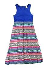 Gymboree Girls Pink Blue Multicolor Zigzag Design A-line Sun Dress Sz 5