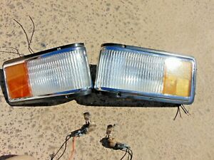89-93 Cadillac Deville Fleetwood Corner Turn Signal Marker Lights LH & RH Nice
