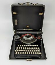 Underwood Junior Portable 4-Bank Typewriter w/ Case SN# 765754 - VINTAGE 1934