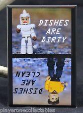 "Captain Kirk & Mugato Clean/Dirty Dishwasher Magnet 2""x3"". Star Trek Minimates"