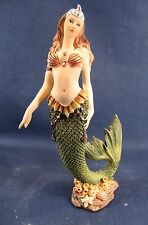 Mermaid w/green color tail Mythical undersea figurine