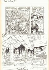 Babe #3 p.9 - Cityscape Splash - Dark Horse - 1994 Signed art by John Byrne Comic Art