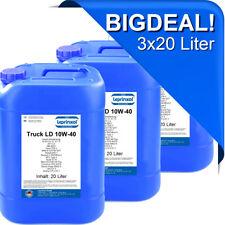 3x20l LTLD 10W40 Motoröl für LKW und Busse mit MAN M 3277 60 Liter