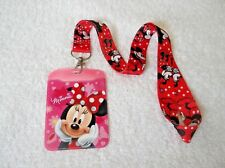 Imperfect MINNIE MOUSE ID PASS HOLDER + LANYARD B