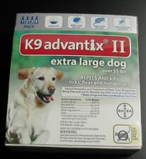 Bayer K9 Advantix II Extra Large Dog over 55 lbs 4 Pk 100% GENUINE EPA APPROVE!!