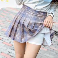 Women Dress Tennis Skirt Plaid Flared Pleated High Waist Short Skirt School UK