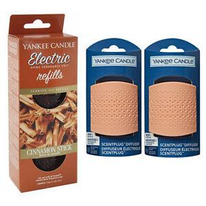 2 x TRIANGLE plugs/REFILL YANKEE CANDLE Scent Plug In CINNAMON STICK STARTER SET
