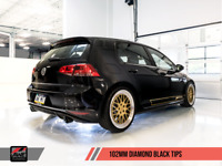 AWE TUNING 2015-2017 VW GTI MK7 TRACK EDITION CATBACK EXHAUST SYSTEM BLACK TIPS
