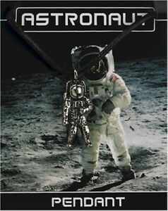 Astronaut Pewter Penant On A Waxed Cord
