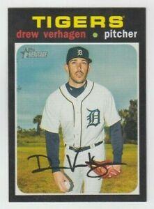 (12) Drew Verhagen 2020 TOPPS HERITAGE BASE CARD LOT #227 DETROIT TIGERS
