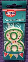 8 Eight Birthday Cake Anniversary Party Festive Occasions Decoration Candle