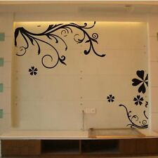 Black Floral Design Design Wall Stickers,Wall Decals J_7043