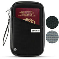 Savisto Family Travel Organiser Passport Document Holder RFID Card Wallet Pouch