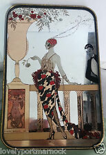 Vintage Art reproduction mirror George Barbier Laissez-moi-seule! 1919 Art Deco