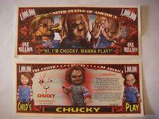 Hi I'm CHUCKY, Wanna Play? Scarry $1,000,000 One Million Dollar Bill ~ Strangler