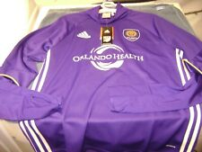 ORLANDO CITY SOCCER  JERSEY LONG SLEEVE MEN  LARGE  NEW $80 ADIDAS  CLIMACOOL