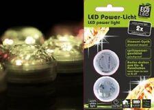 4 Stk LED Diamanten Lichtzauber wasserdicht für Windlicht unter Wasser LEDs weiß