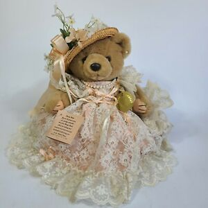 Bearly People 1990s Teddy Bear VB554 Victoria Lace.
